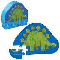 Crocodile Creek: 12-Piece Mini Shaped Puzzle - Stegosaurus
