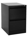 Proceed Lockable Filing Cabinet 2 Drawer - Black