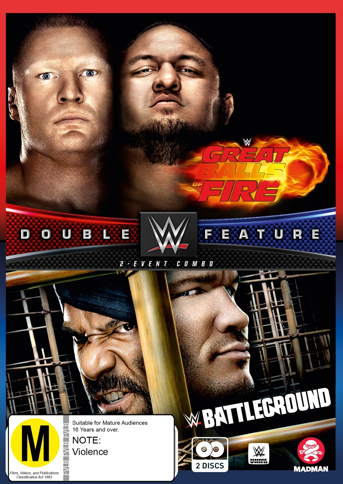 WWE: Great Balls Of Fire / Battleground 2017 (Double Feature) on DVD image