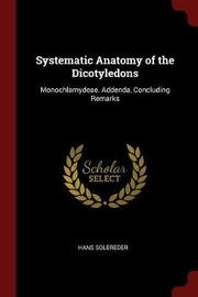 Systematic Anatomy of the Dicotyledons by Hans Solereder image