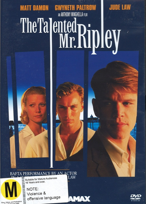 The Talented Mr Ripley on DVD