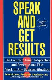 Speak and Get Results by Sandy Linver image