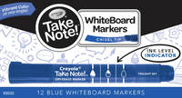 Crayola: Take Note - Whiteboard Markers - Blue (12 Pack) image