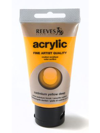 75ml Reeves Fine Acrylic - Deep Cadmium Yellow