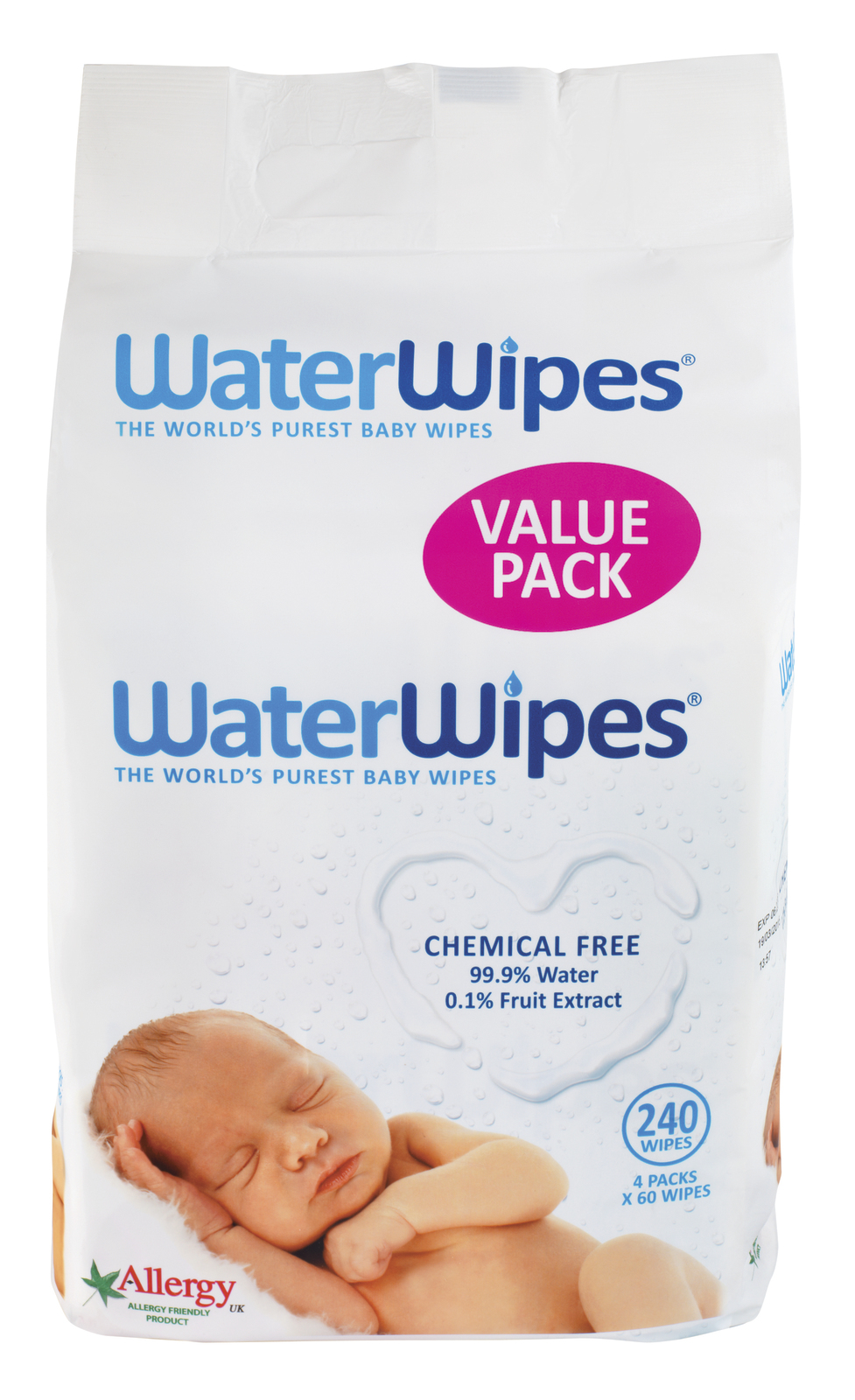 WaterWipes 4 Pack (240 Wipes) image