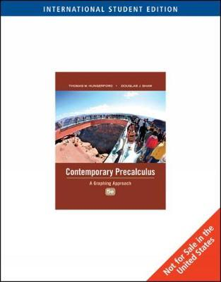 Contemporary Precalculus by Thomas Hungerford image