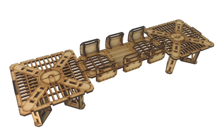TTCombat: Tabletop Scenics – Sector 1 Small Platforms image