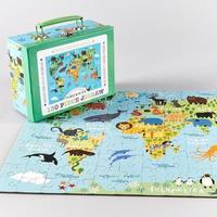 Floss & Rock: 130 Piece Puzzle - World Map