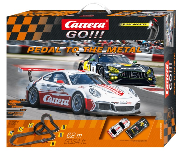 Carrera: Go!!! Pedal to the Metal Slot Car Set (Porsche/Mercedes)