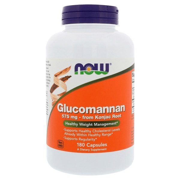 Now Foods Glucomannan 575 mg (180 Caps)