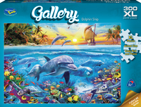 Holdson XL: 300 Piece Puzzle - Gallery (Dolphin Ship)