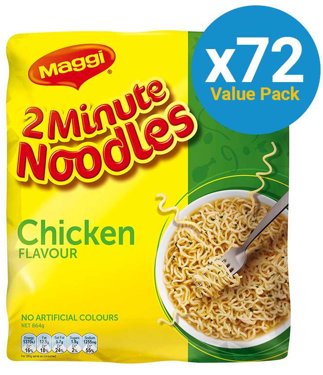 Maggi 2-Minute Noodles - Chicken (72 Pack) image