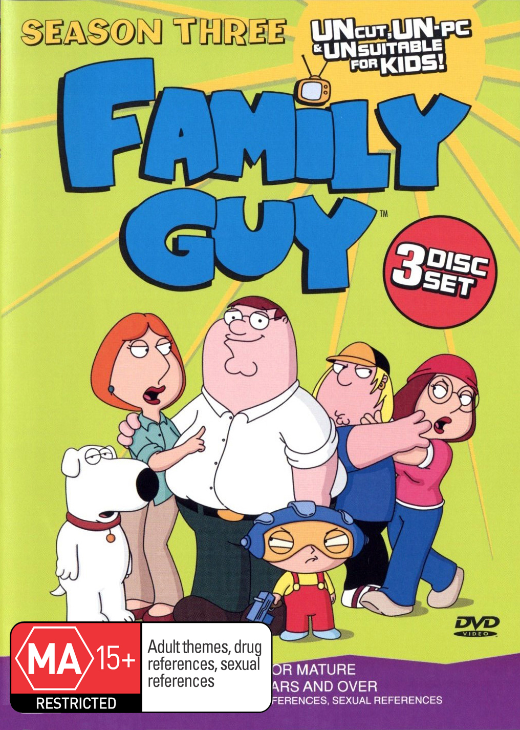 Family Guy - Season 3 (3 Disc Set) on DVD image