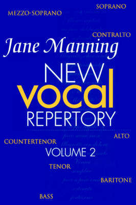 New Vocal Repertory 2 by Jane Manning image