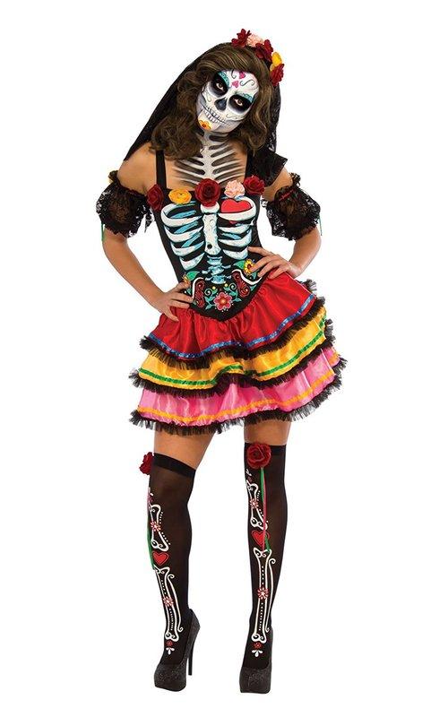Day of the Dead Senorita Costume (Medium)