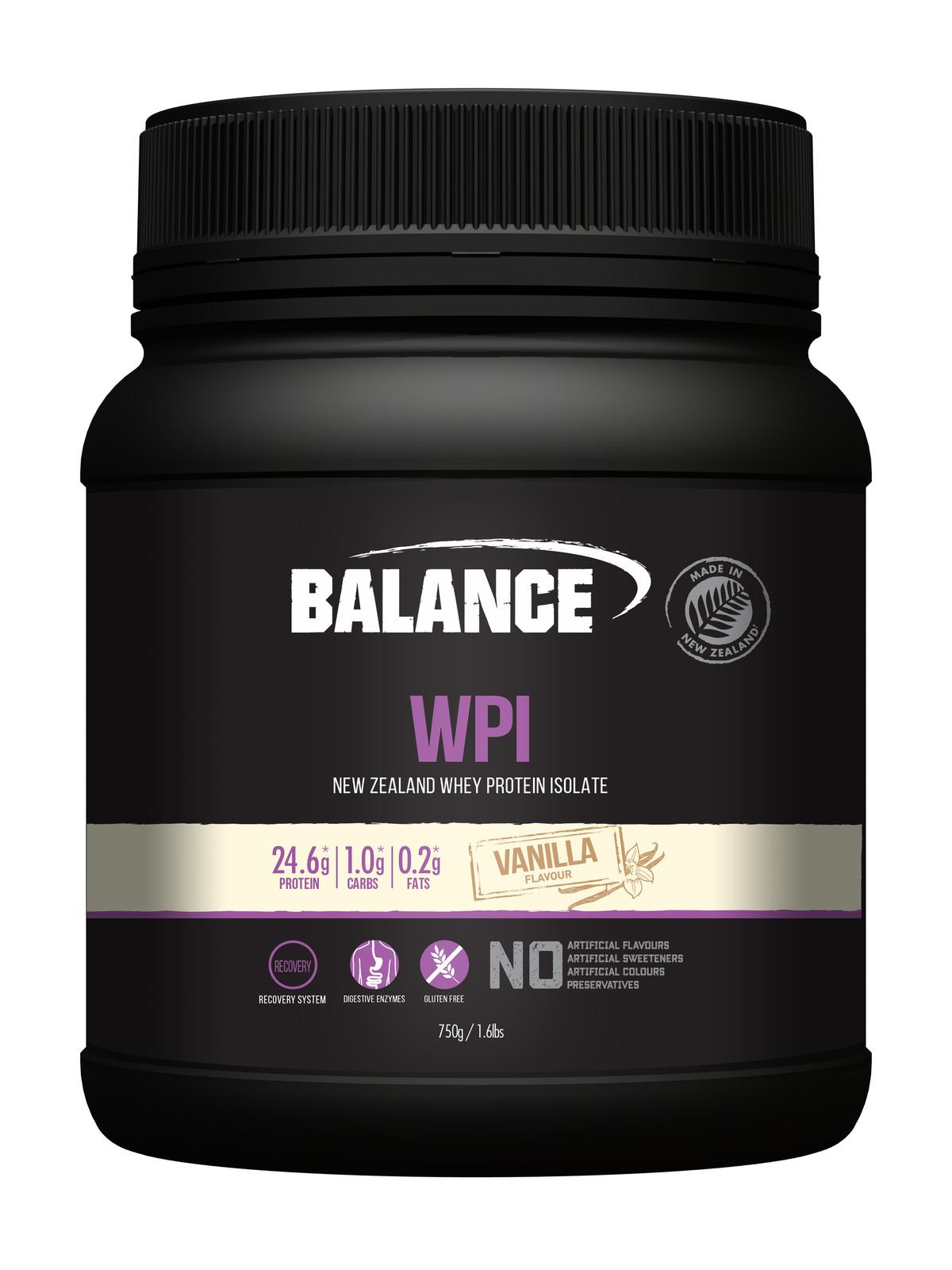 Balance WPI - Whey Protein Isolate Powder - Vanilla (750g) image