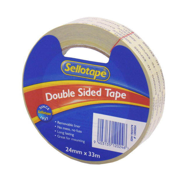 Sellotape: Double Sided Tape (24mmx33m)