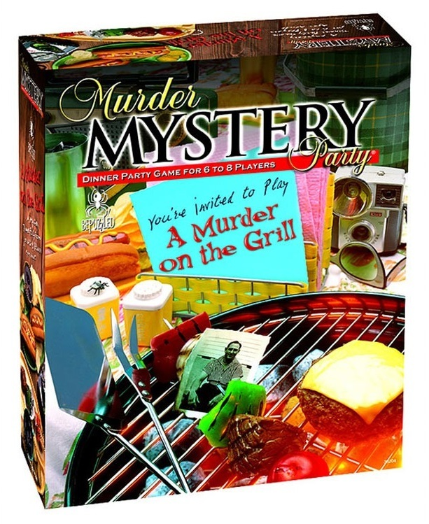 University Games: A Murder on the Grill - Murder Mystery Party Game image