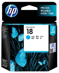 HP 18 Ink Cartridge C4937A (Cyan) image