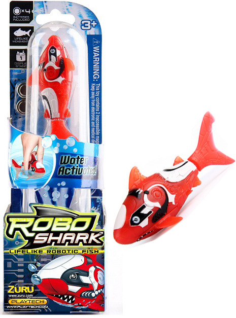 Zuru robo fish red shark toy at mighty ape nz for Zuru robo fish