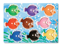 Melissa & Doug: Colourful Fish Peg Puzzle 9 Pieces