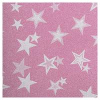 SKINZ Sparklz Printed Glitter Book Cover - Pink