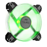 120mm Polaris Green LED Silent cooling fan