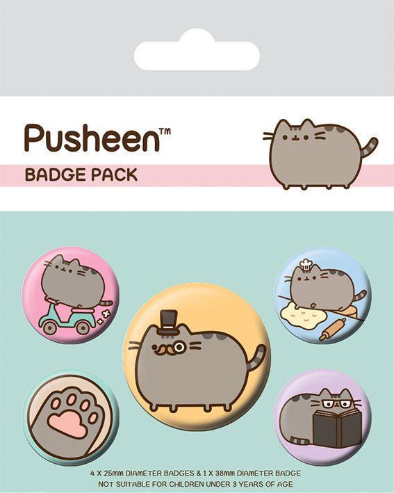 Pusheen: Pin Badge Set - Fancy
