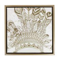 Splosh Havana Headdress Framed Canvas (34x34cm)