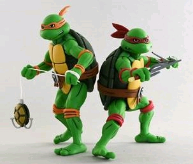 TMNT: Action Figure 2-Pack - Michelangelo & Raphael