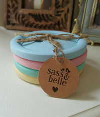 Pastel Button Coasters (Set of 4)