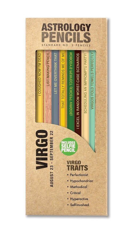 Whiskey River Co: Astrology Pencil - Virgo (8 Pack)