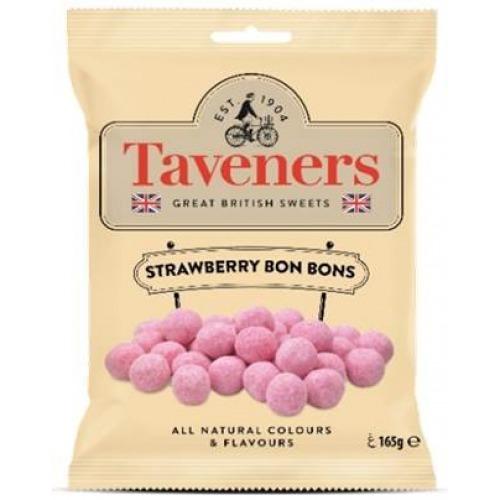 Taveners Great British Sweets Strawberry Bon Bons (165g) 12pk