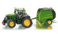 Siku: John Deere Tractor with Baler