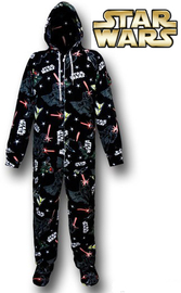 Star Wars: Empire Unisex Footed & Hooded Pyjamas - Large image