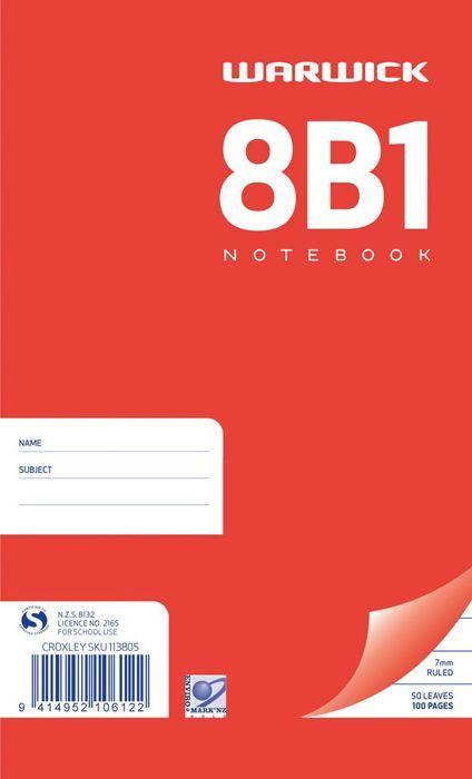 Warwick 8B1 50lf Spiral Notebook
