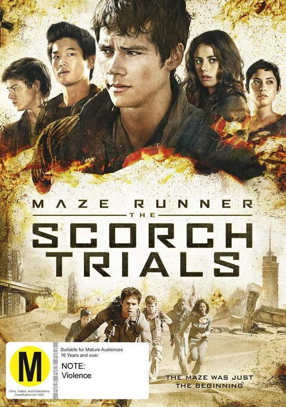 The Maze Runner 2: Scorch Trials on DVD