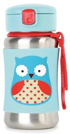 Skip Hop: Zoo Stainless Steel Straw Bottle - Owl