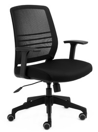 CS Cobi Black Frame, Mesh and Seat with Fixed Arms