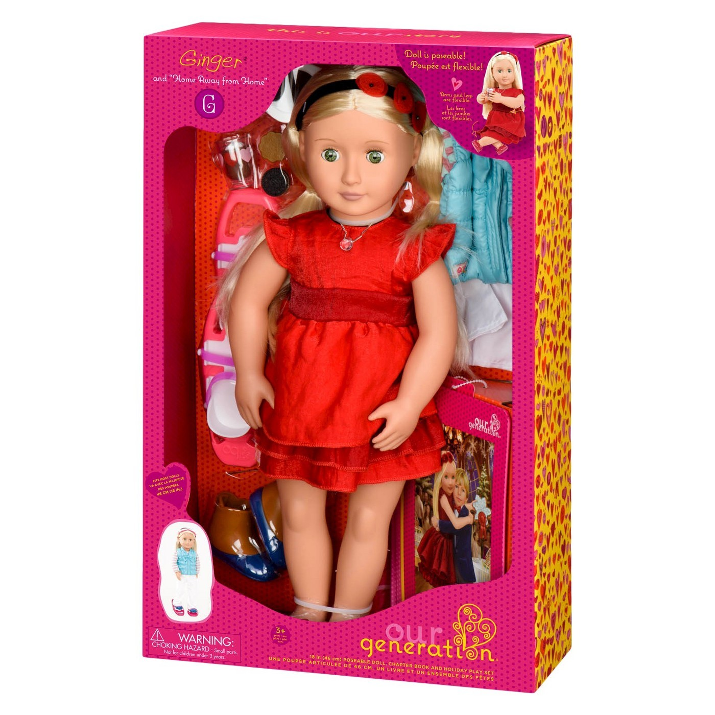 "Our Generation: 18"" Deluxe Doll & Book - Ginger image"