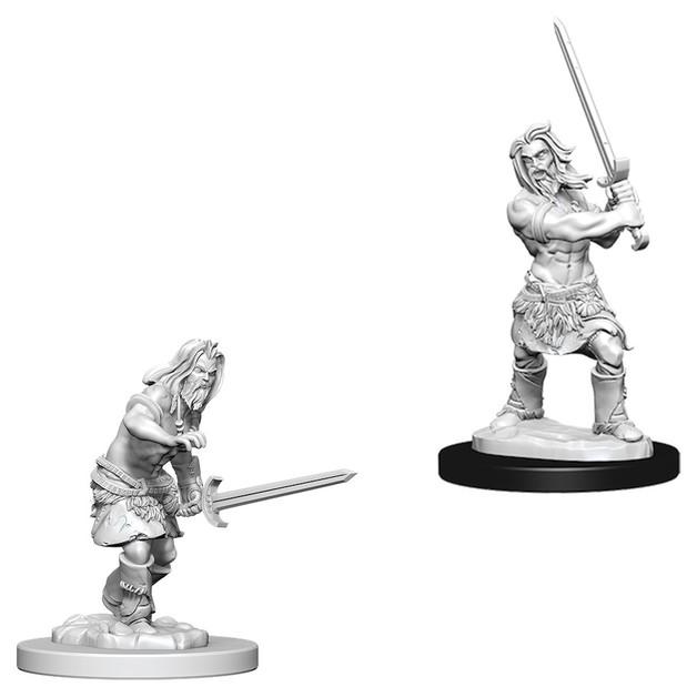 Pathfinder Deep Cuts: Unpainted Miniature Figures - Male Human Barbarian