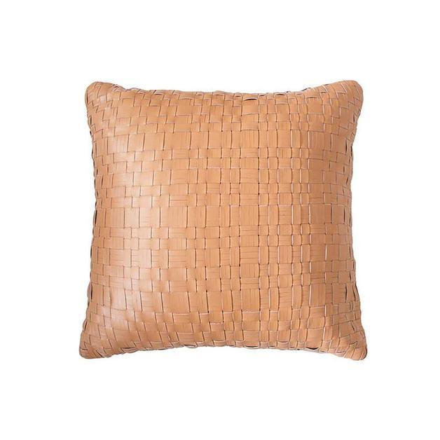 Bambury: Nevada Leather Cushion - Tan (43 x 43cm)