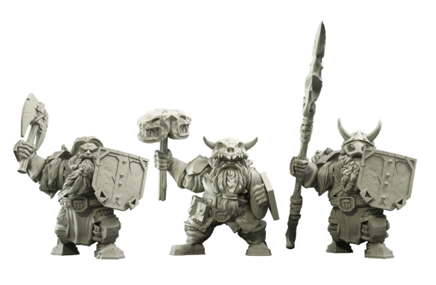 Kings Of War Vanguard: Northern Alliance Dwarf Clansmen Reinforcement Pack