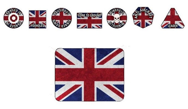 WWIII British Token Set (x20 Tokens, x2 Objectives)