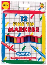 Alex: 12 Washable Fine Tip Markers
