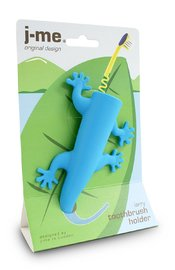 J-me: Larry the lizard Toothbrush Holder- Blue image
