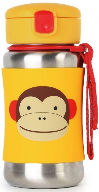 Skip Hop: Zoo Stainless Steel Straw Bottle - Monkey