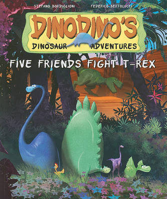 Five Friends Fight T-Rex by Stephen Bordiglioni image