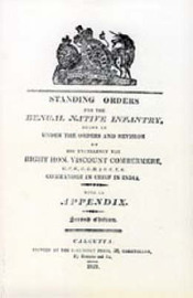 Standing Orders for the Bengal Native Infantry 1829 by N/A