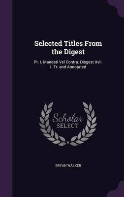 Selected Titles from the Digest by Bryan Walker image